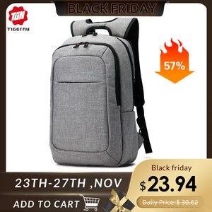 Image 1 - Tigernu Anti hırsızlık kadın sırt çantası erkek iş günlük sırt çantası kolej ve genç okul çantası hafif dizüstü sırt çantası