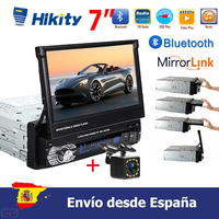 Hikity 7'' Car radio 1 din HD Autoradio Touch Digital Screen GPS Navigation Bluetooth FM USB SD MP5 Support Rear View Camera