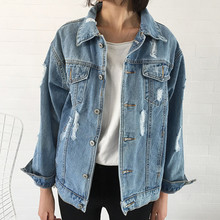 New Women Coat Denim Jacket Autumn Winter For Jeans  Loose 2019