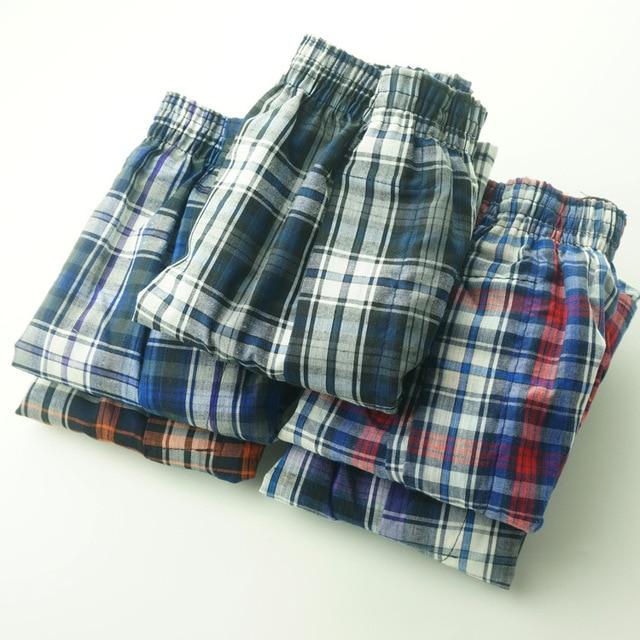 5 Pack ropa interior Hombre para Boxer tejido Hombre transpirable Boxershorts algodón bragas Hombre gasa pantalones cortos talla grande calzoncillo hombre