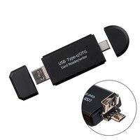 Nuevo Tipo C USB 3,0 USB A Micro USB Combo A 2 ranuras TF SD lector de tarjetas Universal 3 en 1 OTG tipo C lector de tarjetas para Smartphone
