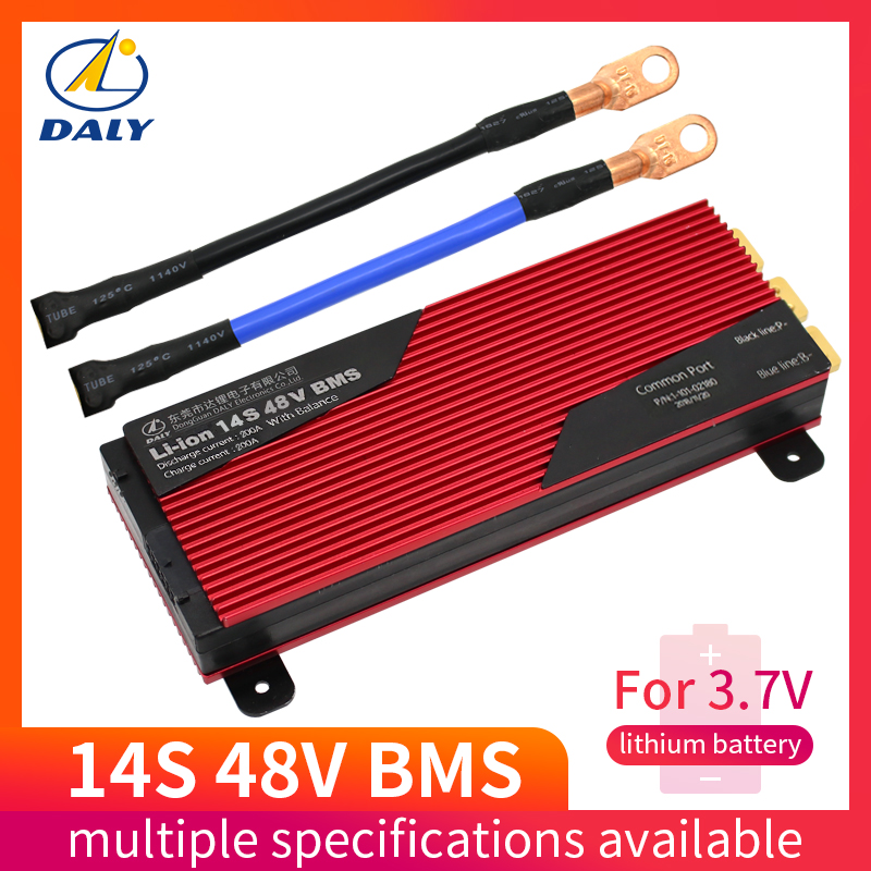 Daly 3.7v 14s Battery Pcm Bms 80a 100a E-bike Li-ion Battery Management System 48v With Balance For E-car Solar Energy System