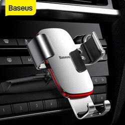 Soporte de teléfono de coche Baseus Gravity para ranura de CD de coche soporte de teléfono para iPhone X Samsung soporte de Metal para teléfono móvil