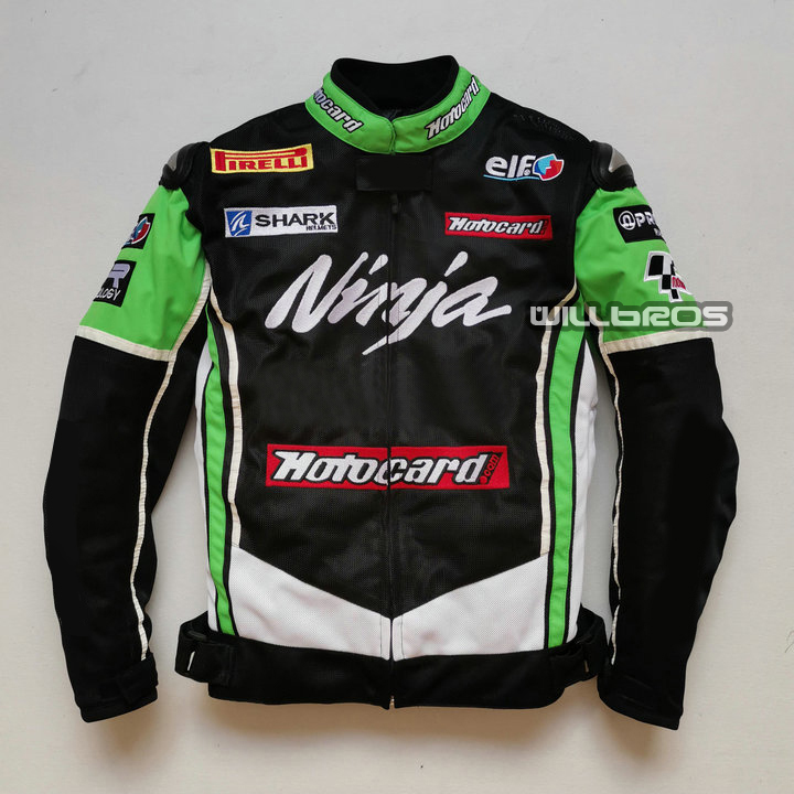 Free Shipping 2020 Summer Moto Gp Racing Motorcycle Jacket For KAWASAKI Team Jacket Man's Black/Green