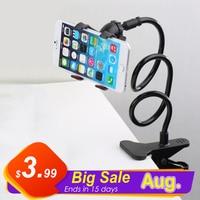 Soporte de teléfono Universal Flexible, Clip de 360 grados para teléfono móvil, soporte de escritorio para cama perezosa