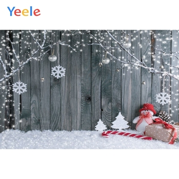 Christmas Backdrop Wood Board Winter Tree Snow Branch Snowman Reindeer Photography Background For Photo Studio Vinyl Photophone merry christmas reindeer olive branch print round beach throw