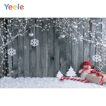 Yeele Christmas Backdrop Winter Tree Snow Branch Snowman Baby Birthday Party Customized Photography Background For Photo Studio