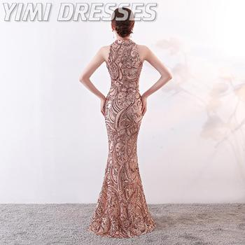 Mermaid Sequin Evening Dress Long Robe De Soiree Evening Gowns For Women Formal Dress Women Elegant Party Dresses Gowns 2020 2