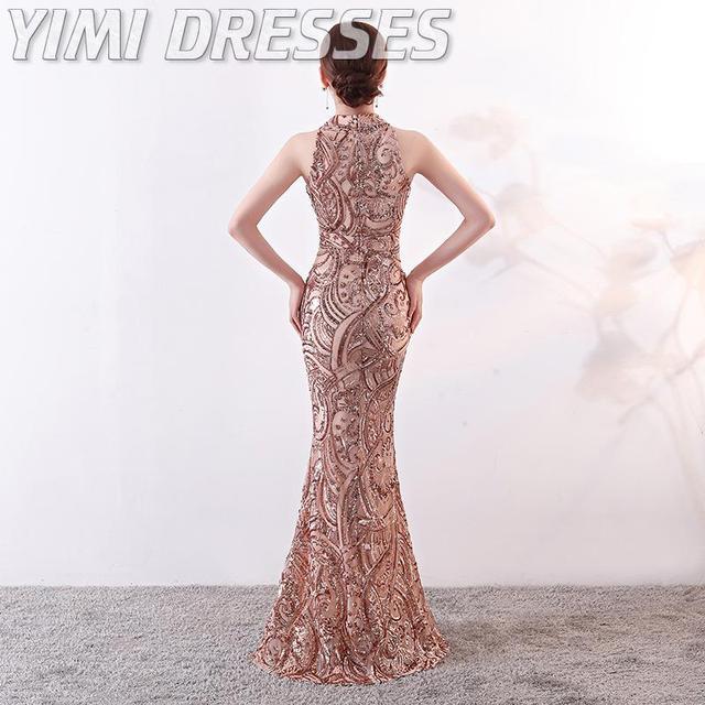 Mermaid Sequin Evening Dress Long Robe De Soiree Evening Gowns For Women Formal Dress Women Elegant Party Dresses Gowns 2020 2