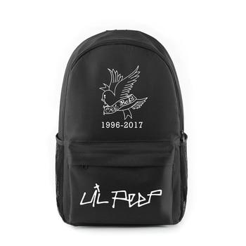 Lil peep impreso mochila hombres mujeres Harajuku escuela mochilas mochila para portátil para niños niñas popular amante popular bolsa