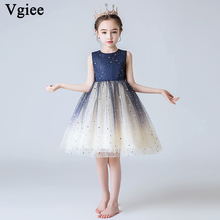 Vgiee Kids Dresses for Girls Mesh Knee-Length Casual Sleeveless Baby Girl Clothes Party and Wedding CC593