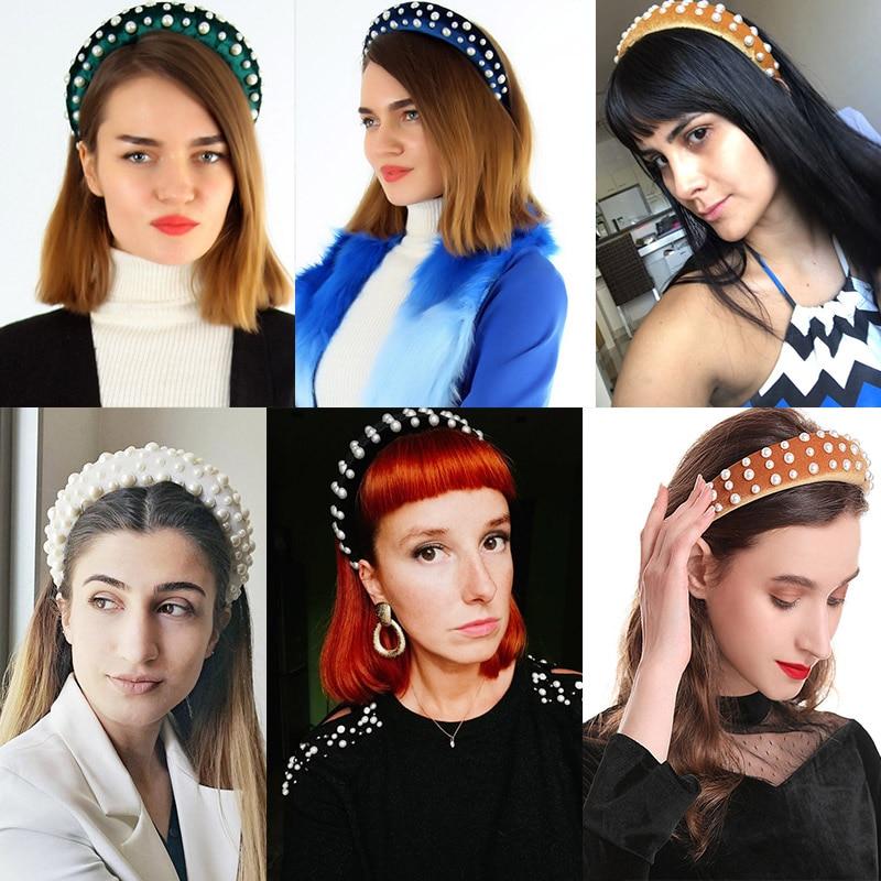 Ladies Pearls Padded Hairband Headband Wide Hair Band Hair Accessories Headwear