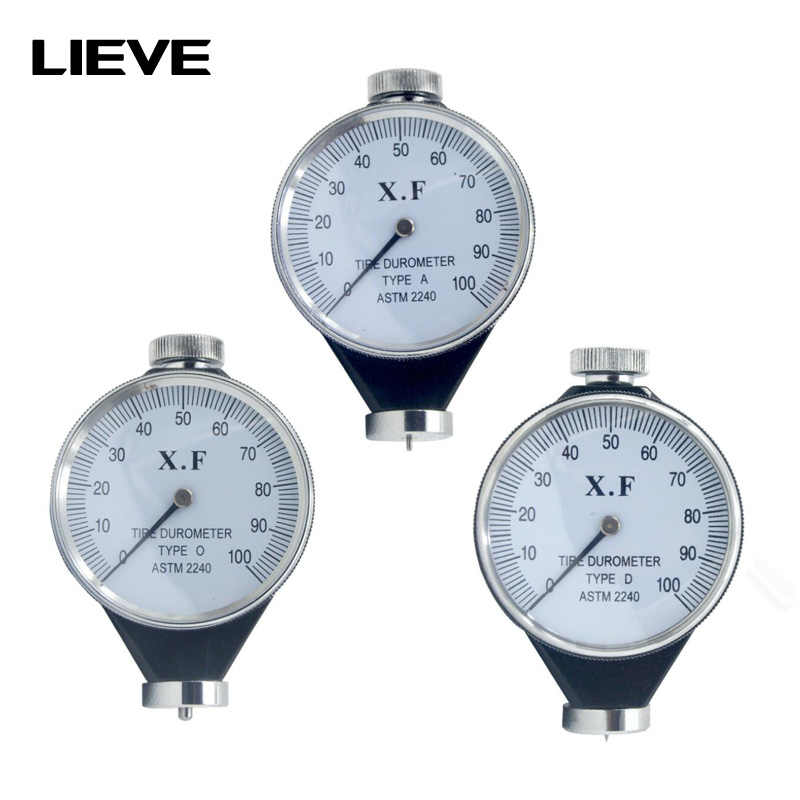 Shore Type A//O//D Rubber Tire Durometer Hardness Tester Meter 0-100 HA Hardness Tester A