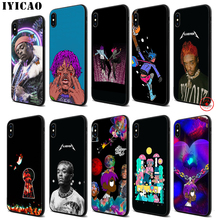 IYICAO Lil Uzi Vert Soft Black Silicone Case for iPhone 11 Pro Xr Xs Max X or 10 8 7 6 6S Plus 5 5S SE