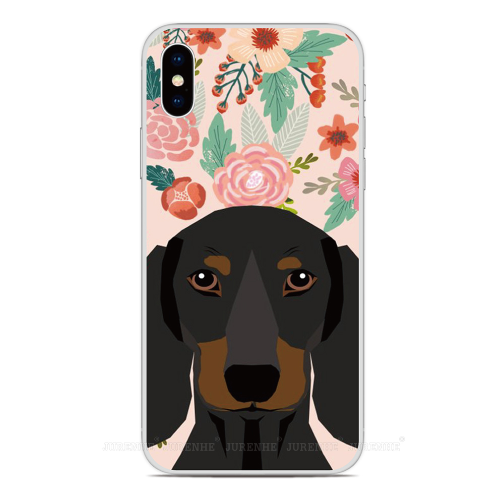 2019 Dog Flower Floral Soft TPU Phone Case For LG K50s K40s K20 K30 K40 K50 Q60 X2 G8X G8S V60 Thinq K61 K51S K41S Back Cover