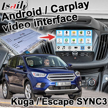 Android/Carplay Interface Voor Ford Kuga Escape Focus Sync 3 Draadloze Carplay Video Interface Box Spiegel Link Door lsailt