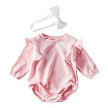 Одежда для новорожденных девочек; Осенняя теплая одежда с длинными