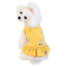 Dress Pet-Apparel Dogs Small Bear-Print Medium Cute for Pet-Dog