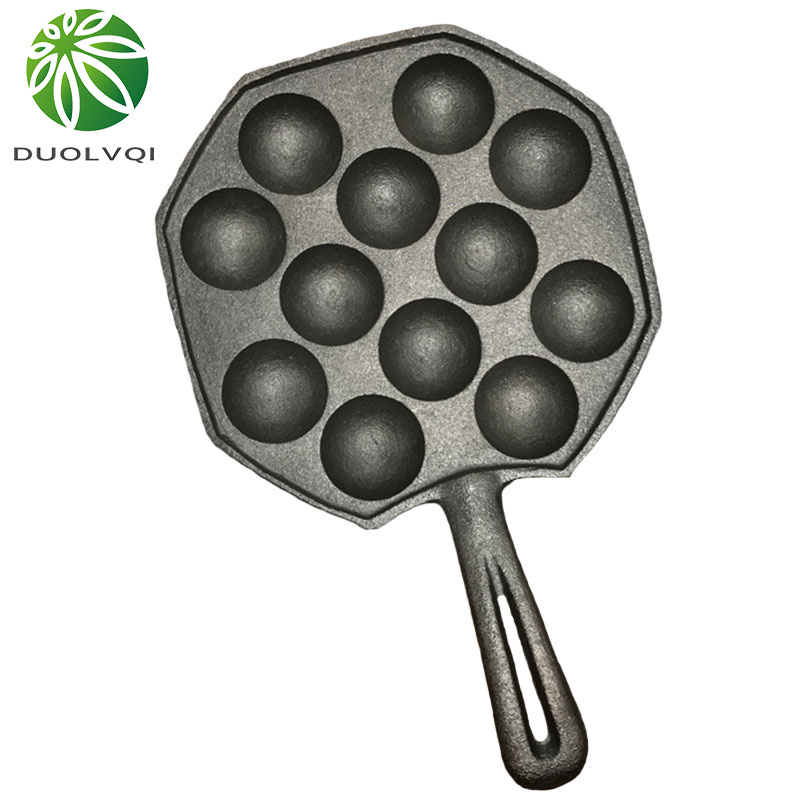 Duolvqi 12 Cavities Takoyaki <font><b>Pan</b></font> Takoyaki Maker Octopus Small Balls Baking <font><b>Pan</b></font> Home Cooking Tools Kitchenware Supplies image