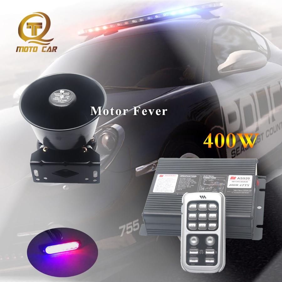 Wireless Auto Alarm Siren Horn 12V Car Electric Loudspeaker 400W Warning Sound Vehicle Tone Megaphone MIC System