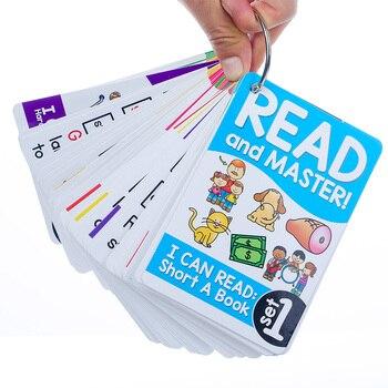 Детские развивающие игрушки Монтессори, 107 групп/набор, английская фоника, флеш-карты, обучающие игрушки для детей, детские карточки