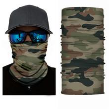 High-jump Army Military piesze wycieczki szaliki poliester wiatroszczelna szyi cieplej maska anty UV taktyczne kamuflaż chustka druku kawałek tanie tanio Drukuj Sport Military Camouflage Hiking Scarves 100 Polyester Microfiber Camouflage Windproof UV Protection 24CM*50CM