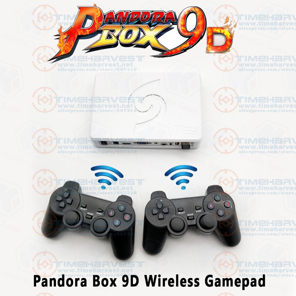 2 Players Pandora Box 9D Wireless Arcade Game Controller Joypad 2500 in 1 Fighting Wired Gamepad 3D games Tekken HDMI/VGA output