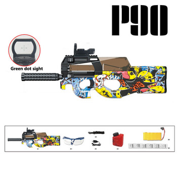 New P90 Electric Blaster Toy Guns Safety Water Gel Ball Bullet Outdoor Sports Rifle Snipe Weapon Gun Pistol Toys For Boys Gifts