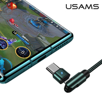 USAMS 2A USB Type C Rotatable Charger Cable for Xiaomi Redmi note Huawei Samsung Quick Charge  USB C Fast Charging Cable USB Type-C Wire