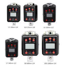 Microtorque alto da movimentação do adaptador 1.5 1/4 3/8 1/2 3/4 da chave de torque de digitas 1000nm