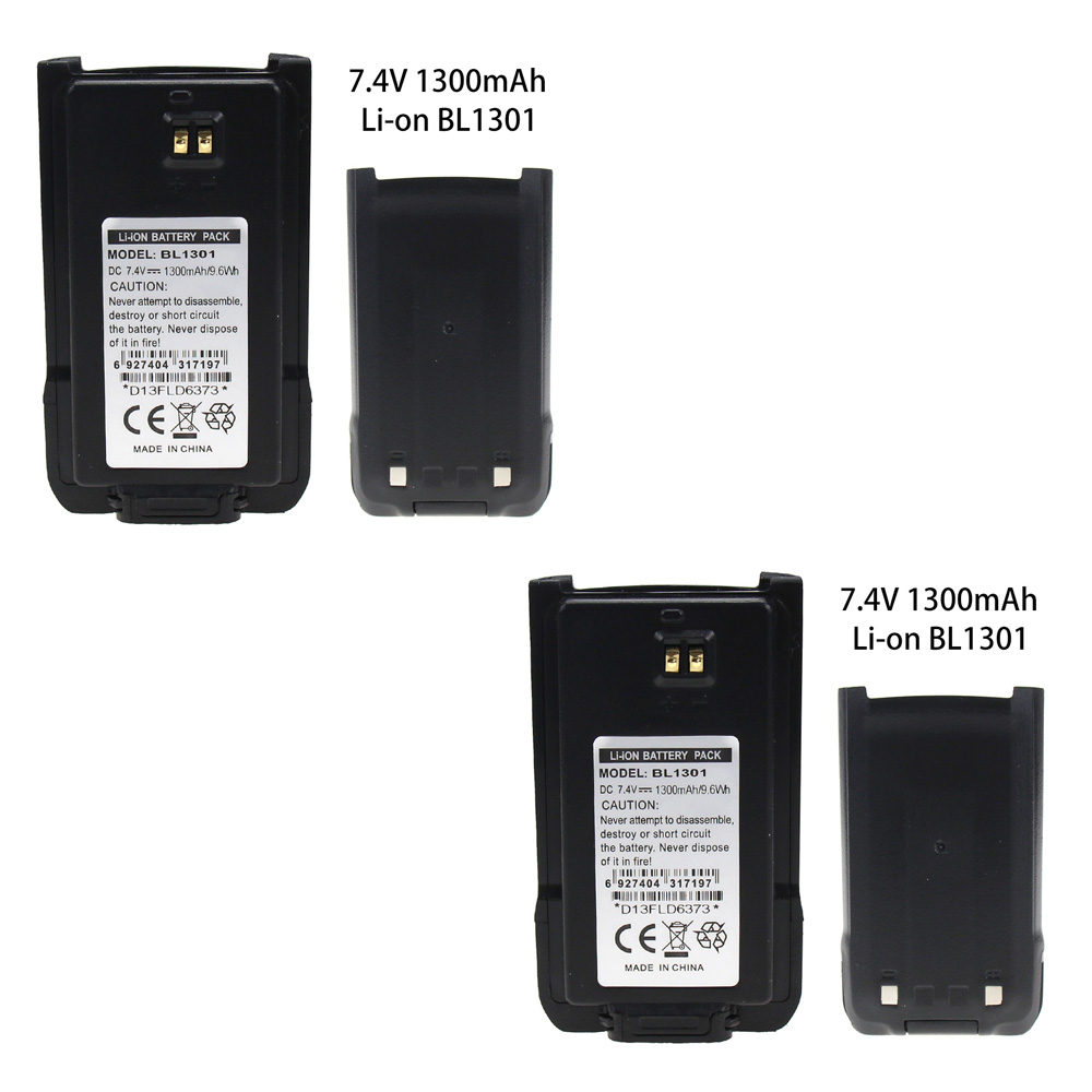 2X Two-Way Radio Battery For HYT BL1301 BL1719,fits HYT TC-446S TC-518 TC-580 TC-560 TC-585 TC-500S