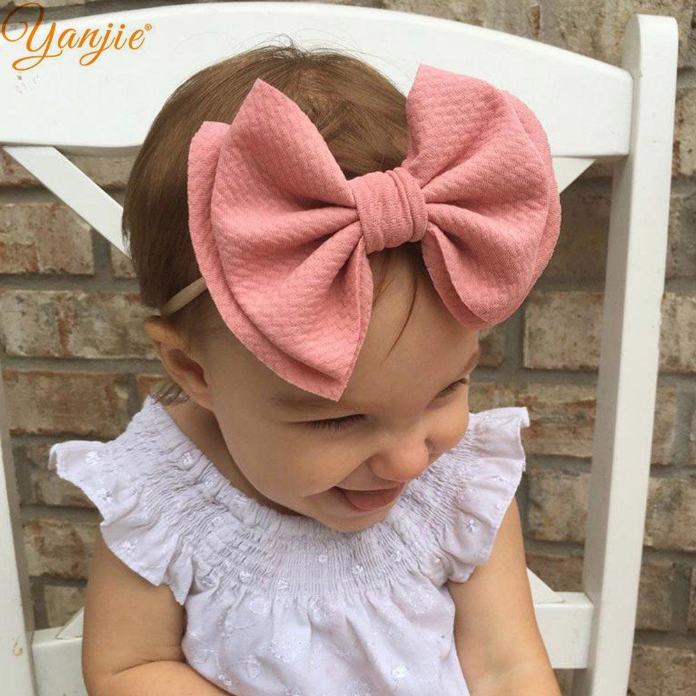 Bows Nylon Hairband DIY Hair Accessories Headband for Baby Elastic Head Band US