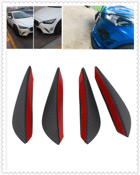 Auto parts 4PCS carbon fiber car spoiler small wind knife front bumper for BMW Z4 E85 E89 i8 and i3 E39 E61 E60 E63 F07 F10 F11 image
