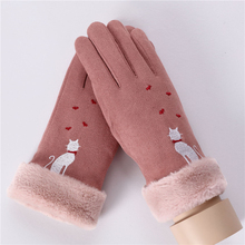 2019 New Winter Gloves Women Solid Color Warm Touch Screen Mittens