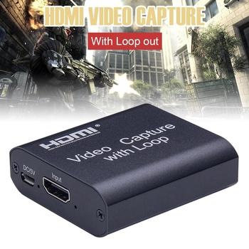 Erilles Mini Video Capture Card USB Video Grabber Record Box For PS4 Game DVD Camcorder HD Camera Recording Capture Card mini card pc used for video capture decoder process display and record with audio also use as a hdmi camera for elp usb camera