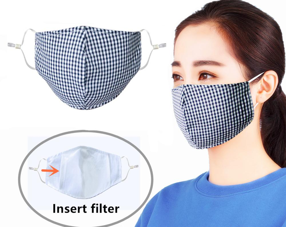 2Pcs Summer Thin Permeability Cotton Mask Protective Dust Mouth Mask PM2.5 Anti-fog Haze Mask Activated Carbon Filter Face Masks