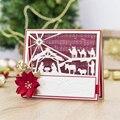 Металлические штампы с изображением рождественского рождества для скрапбукинга