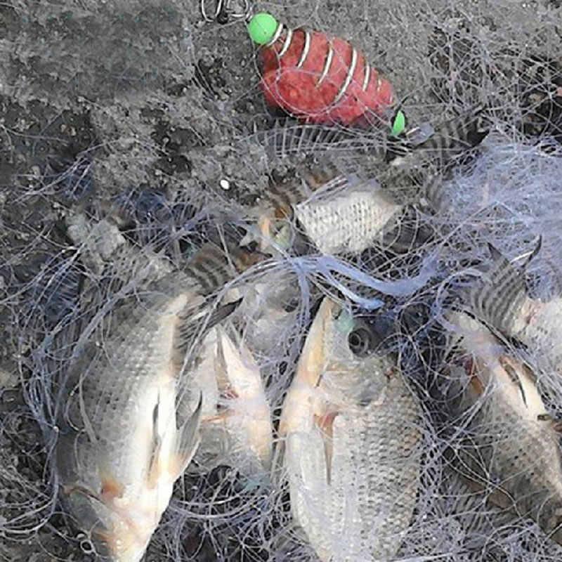 ZUOFILY Neue Design Kupfer Frühling Shoal Fischernetz Netting Luminous perlen Swivel angeln locken angeln haken angelgerät