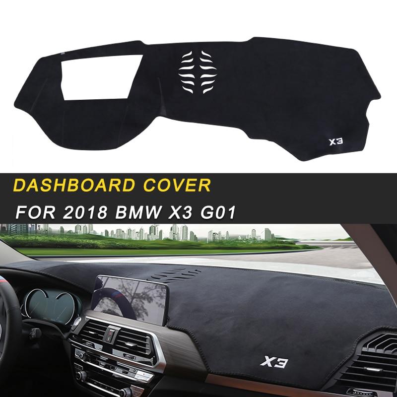 Housse de tableau de bord parasol anti-dérapant tapis Pad housse de coussin tapis accessoires d'intérieur pour 2018 BMW X3 G01 Auto