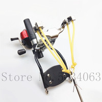 Shooting powerful fishing compound bow catching fish high speed hunting 4