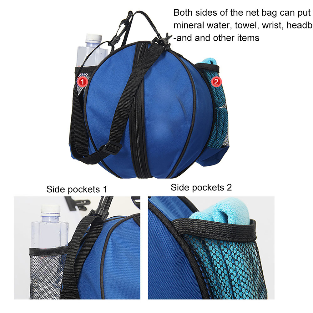 Портативная спортивная сумка через плечо для баскетбола, футбола, волейбола, рюкзак для хранения, сумка для баскетбола, футбола, рюкзак для волейбола-4