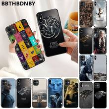 Cassa del telefono Game of Thrones TPU Molle Del Silicone Nero Cassa Del Telefono per il iPhone 11 pro XS MAX 8 7 6 6S Plus X 5 5S SE XR caso(China)