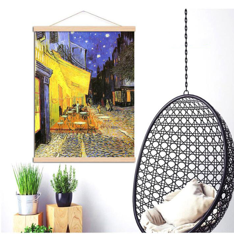 New Diamond painting wood hanging scrolls painting magnetic core hanging clip,Solid Frame Hanger for poster photo picture Simple