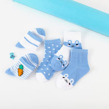 [Autumn And Winter] 0-9-Year-Old Girls Spring 5-pair Pack Children's Socks BOY'S Infants Cartoon Socks Cotton One Size Socks Thi(China)