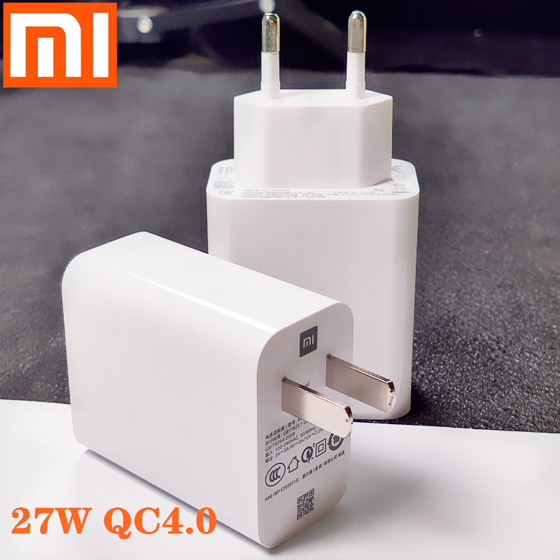 Original xiaomi MI9 <font><b>charger</b></font> QC4.0 <font><b>27W</b></font> USB Fast <font><b>charger</b></font> Turbo quick adapter USB type C cable for mi9 se <font><b>MI</b></font> 8 7 F1 mix 2 2S 3 image
