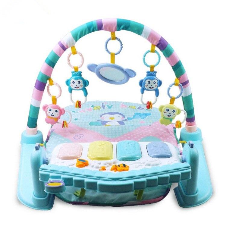 Nouveau-né infantile Kick And Play Piano Gym tapis bébé jeu de musique couverture jouet éducatif 0-1-Year-Old 3-6-12 mois