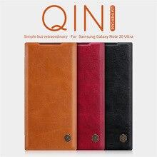 NILLKIN غلاف جلدي مع رفرف ، جراب محفظة لهاتف Samsung Galaxy Note 20 Ultra