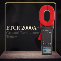 ETCR ETCR2000+ Series Digital Clamp On Ground Resistance Tester Lightning Protection Lightning Grounding Tester 99 Sets