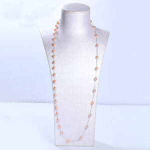 Image 4 - DMCNFP007 7 8mm Long Pearl Necklace 925 Sterling Silver Sweater Chain Necklace For Women