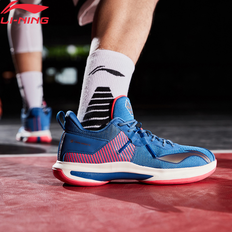 LI-NING Speed VI Men Professional Basketball Shoes Wearable Anti-Slippery Lining Sport Shoes Sneakers ABAP071 ABAP069 ABAQ001